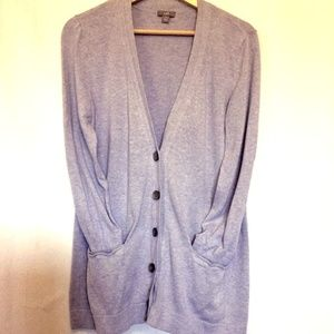 J.Jill Tunic Length Pocket Cardigan Lavender Med